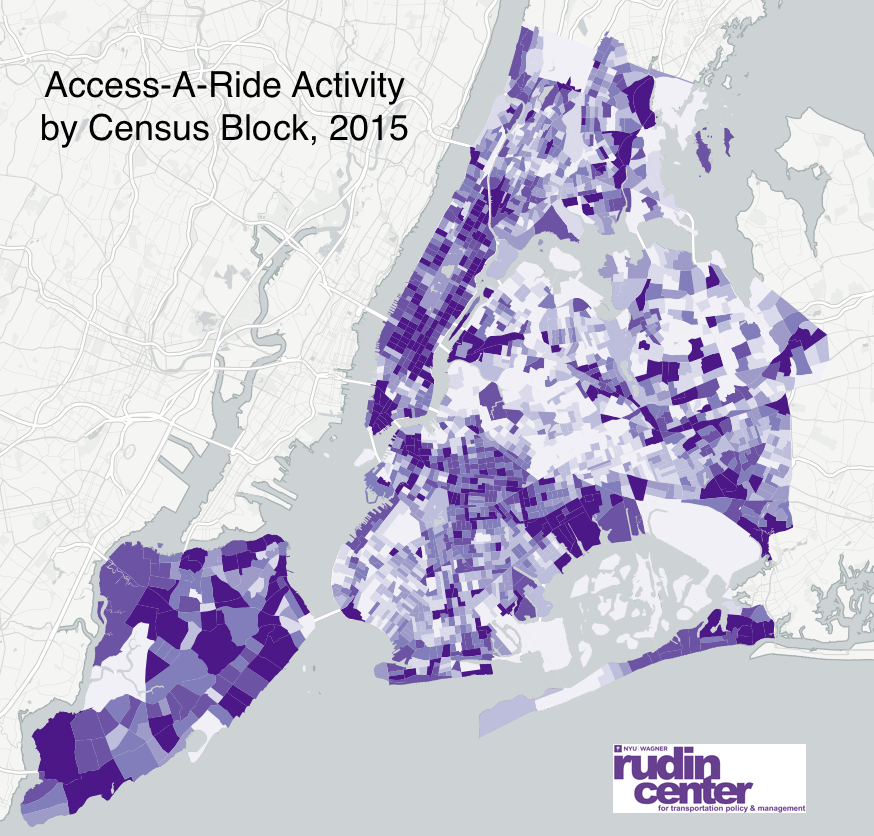 Access-A-Ride Activity by Census Block