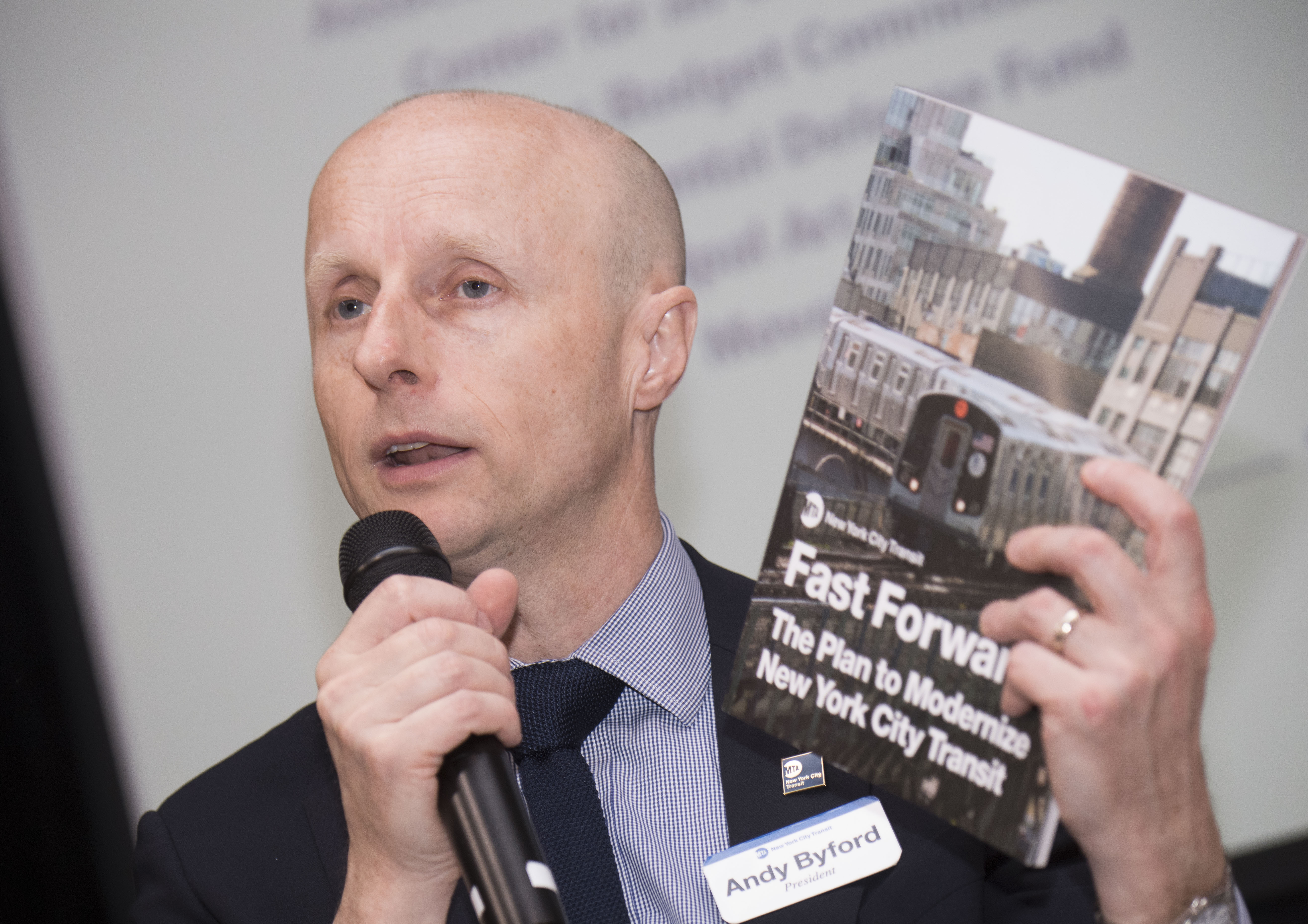 Andy Byford, NYCT President, presents his Fast Forward NYC Plan