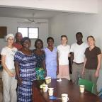 Wagner interns at  the DAA office - a mircofinance organization in Ghana