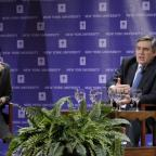 Ellen Schall, Dean of NYU Wagner and British Prime Minister Gordon Brown