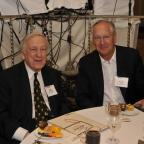 Wagner Dean's Council member Dan Brodsky with John Brademas, Former NYU President and President Emer