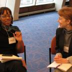 2010 Fellows Tina Wu and Nicole Bell (left to right)
