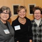NYU Wagner Professor Paula Wilson, Maryann Jablonowski from Accenture, and Rachel Block, Deputy Comm