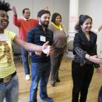 Nonprofit leaders participate in the Social Change Leadership Network's interactive Training for Tra
