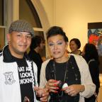 Artist Pepe Villegas and curator Frankie Crescioni-Santoni at the opening reception of  FolkloRican: