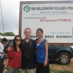 Visiting the Millennium Villages Project in Bonsaaso. Photo by Sandra Vu