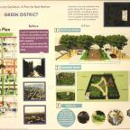 Community Corridors: A Plan for East Harlem, Green District.  Project by Krzysztof Sadlej, Josh Sell