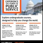 View UndergraduatePublic Service Courses for Spring 2013