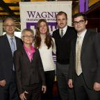 NYU Wagner Dean Schachter and Dean Liebmann with some of the recipients of the 2013 President's Serv
