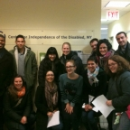 MUP students participate in the Access Project at the Center for Independence of the Disabled for UP