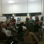 MUP students present their final projects for an Urban Design course.