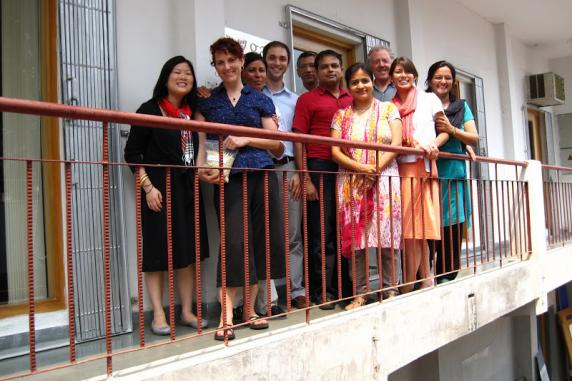 NYU GAIN capstone team with Dr. David Winder, faculty advisor, and GAIN-India staff at GAIN-India of