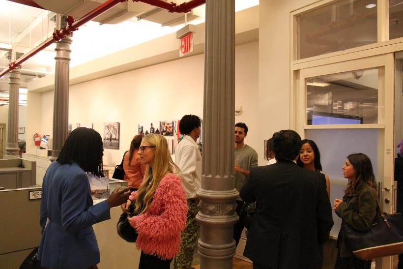 Audience at gallery opening