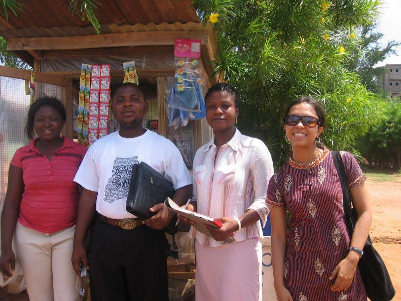 Wagner student Priyanka Gupta with Youth and Social Enterprise Fund Loan Officers in Accra, Ghana