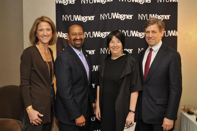 Wagner Dean's Council member Bridget Ryan Berman with Philadelphia Mayor Michael A. Nutter, NYU Wagn