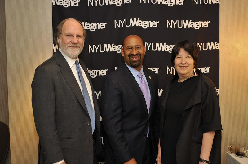 New Jersey Governor Jon Corzine, Philadelphia Mayor Michael A. Nutter and NYU Wagner Dean Ellen Scha