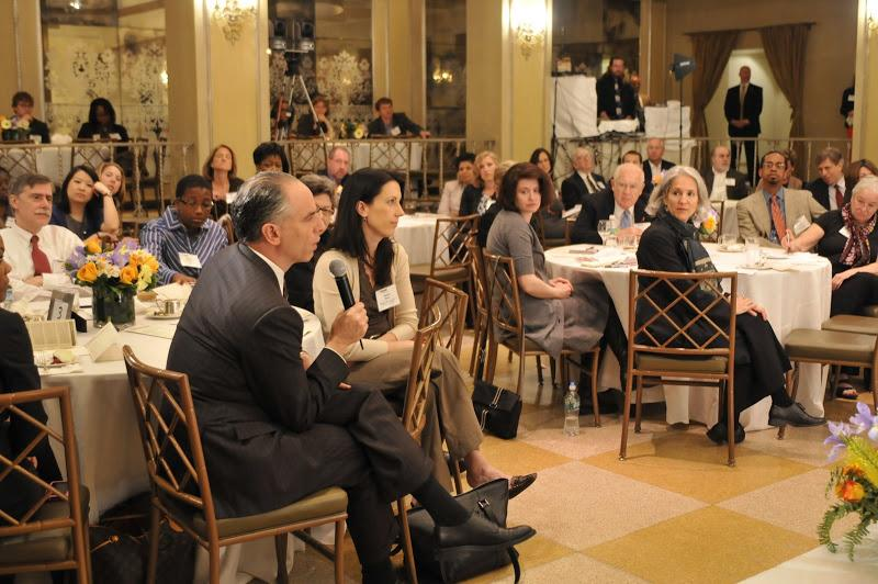 NYU Wagner Associate Dean Rogan Kersh asking a question during the 100 Days event