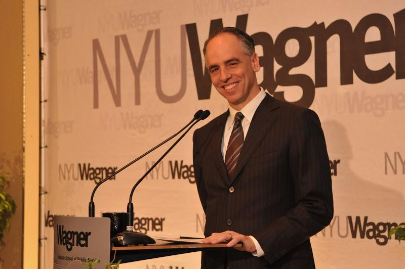 NYU Wagner Associate Dean Rogan Kersh addressing guests