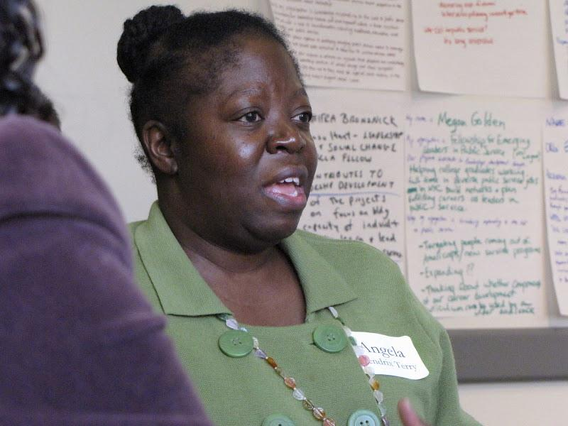 RCLA Senior Fellow Angela Terry discusses leadership development strategies at a Leadership Learning