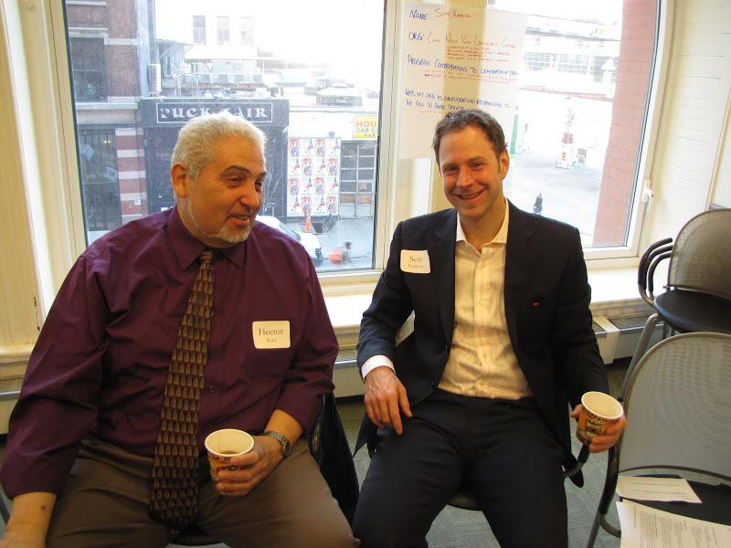 Hector Soto from the Center for Neighborhood Leadership and Seth Hufford from the Coro Fellowship Pr