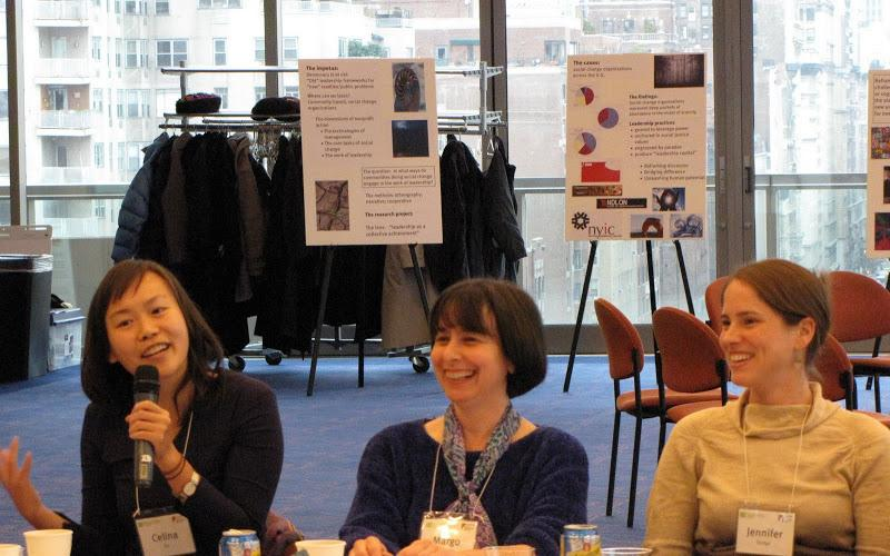 RCLA researchers Celina Su and Jennifer Dodge with Margo Hittleman, co-founder and the coordinator o