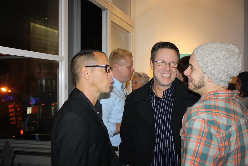 Pepe Villegas and guests at the opening reception of  FolkloRican: The Art of Pepe Villegas at NYU W