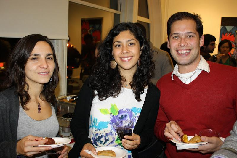 Wagner students enjoy the opening reception of  FolkloRican: The Art of Pepe Villegas at NYU Wagner