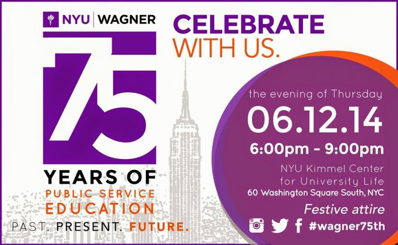 We invite you to celebrate with us  as we acknowledge 75 years of leadership in public service educa