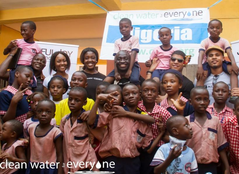 Clean Water for Everyone, a nonprofit organization founded and led by NYU Wagner's Wemimo S. Abbey,