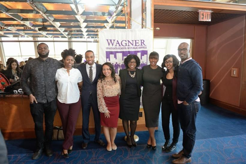 NYU Wagner Black Student Association with NYU President John Sexton