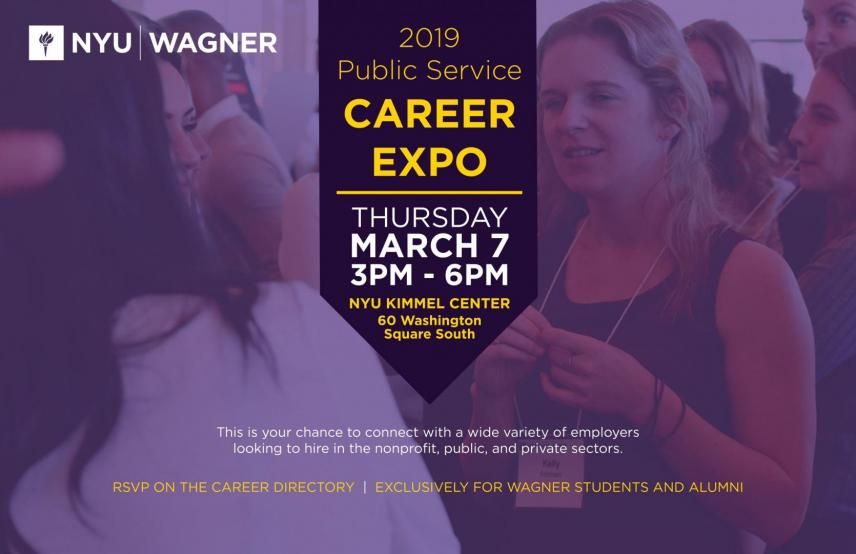 2019 Public Service Career Expo | NYU Wagner