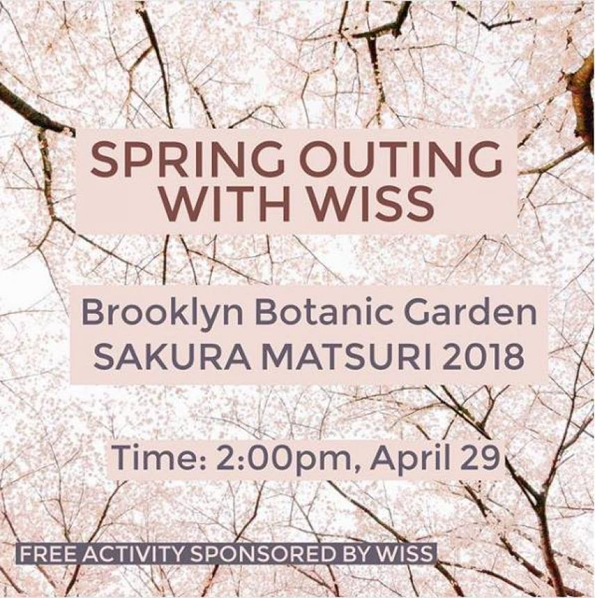 Spring Outing with WISS to Brooklyn Botanical Garden