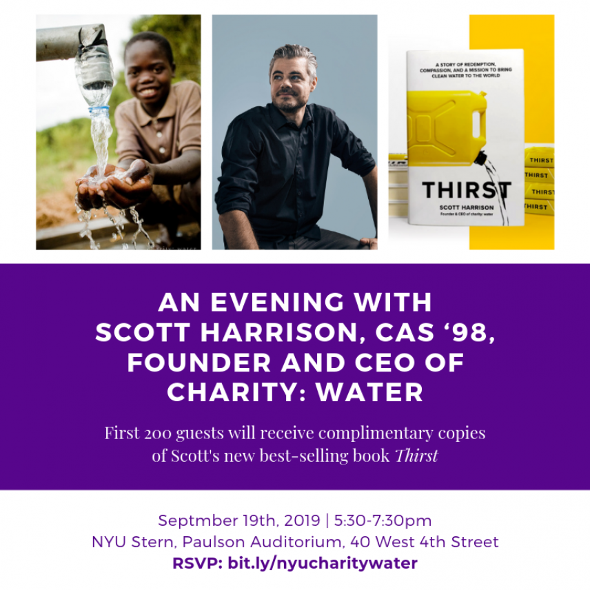 An Evening with Scott Harrison, Founder and CEO of charity:water
