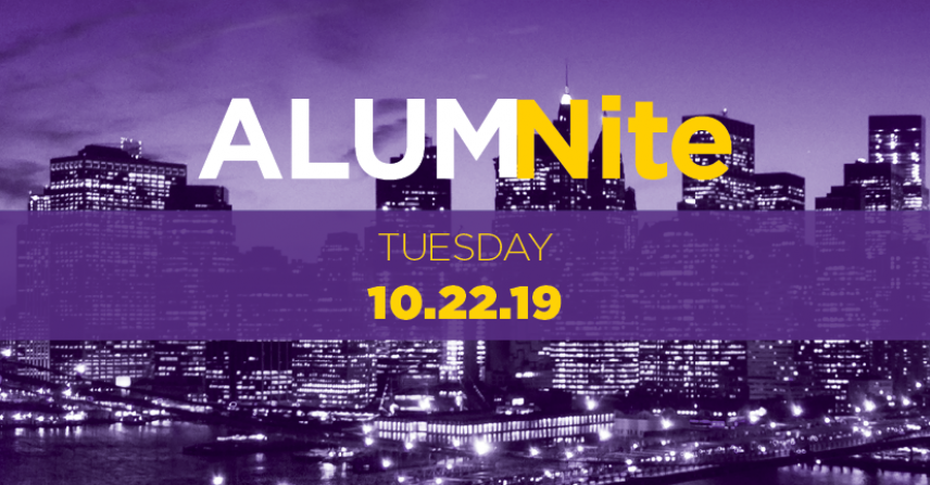 Alumnite: Tuesday, October 22, 2019