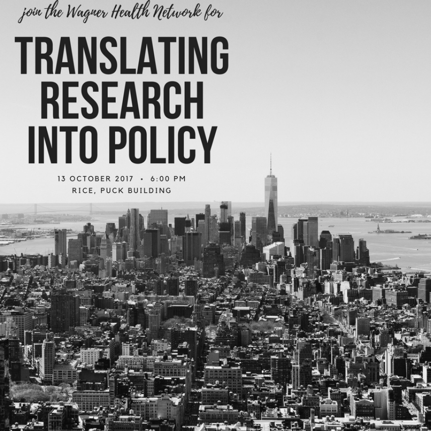Translating Research Into Policy Event Image