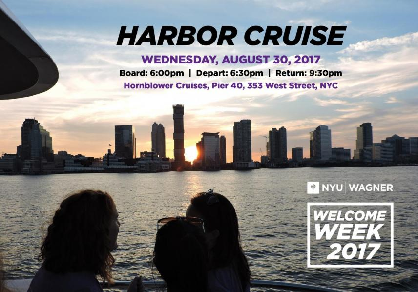 Welcome Week Harbor Cruise