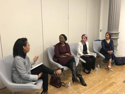 Headscarves in the Workplace panel