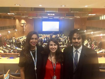 NYU Wagner students at ECOSOC Youth Forum