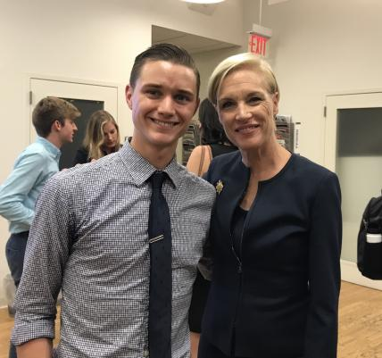 Photo of Zak Hill-Whilton and Cecile Richards
