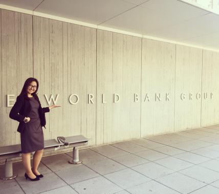 Handaa Enkh-Amgalan pictured outside of the World Bank building