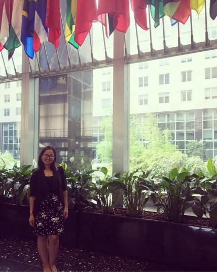 Handaa Enkh-Amgalan pictured inside of the World Bank building