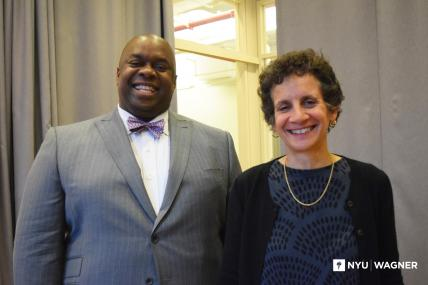 Richard Buery (left) Dean Sherry Glied (right)