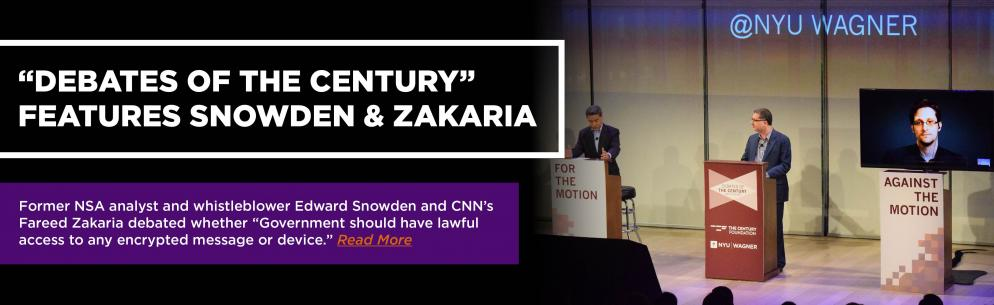 Debates of the Century Features Snowden & Zakaria