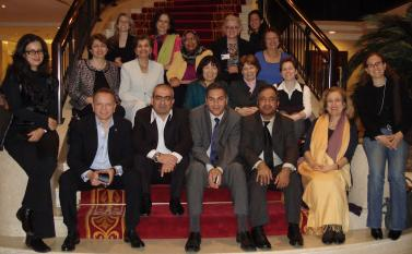 Participants in the Leadership for the Public Wellbeing in the Middle East workshop hosted by RCLA a