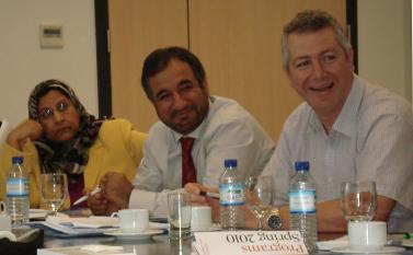 (From left) Asya Al Lamki from the Embassy of the Sultanate of Oman in Washington, DC; Darwish Al Ma