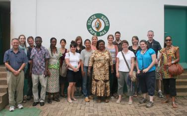 Visiting the Kuapa Kokoo Cocoa Coop outside of Kumasi Photo by Sandra Vu