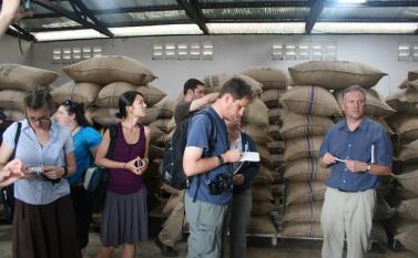 Cocoa bean storage at Kuapa Kokoo Cocoa farm outside of Kumasi Photo by Sandra Vu