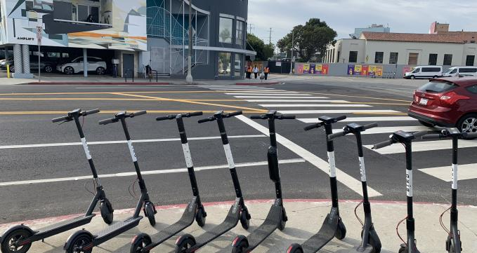Scooters in Santa Monica, CA