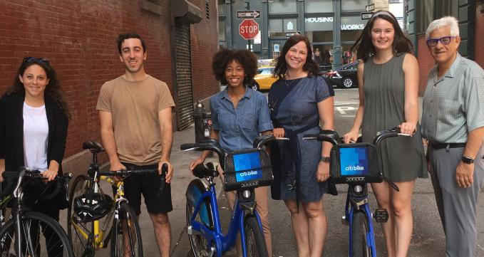 NYU Rudin Center celebrates Women's Bike Month