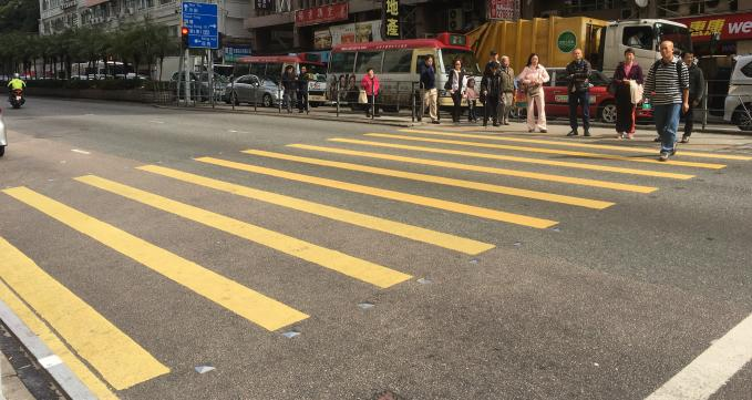 Hong Kong Pedestrian Crossing